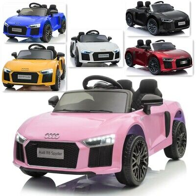 Kids Official Licensed Audi R8 12V Battery Ride On Car Remote Control Red • 125.99£