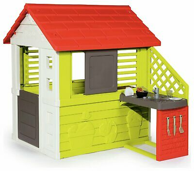 Smoby Nature Outdoor Plastic Playhouse With Kitchen 2+ Years • 130£