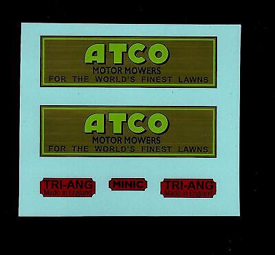 Minic Transfers/decals - 21m Atco Delivery Lorry • 4£
