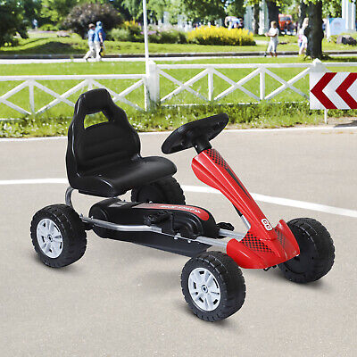 Pedal Go Kart Kids Children Manual Racing Wheel Rider Red Age 3 Years Ride On • 42.99£