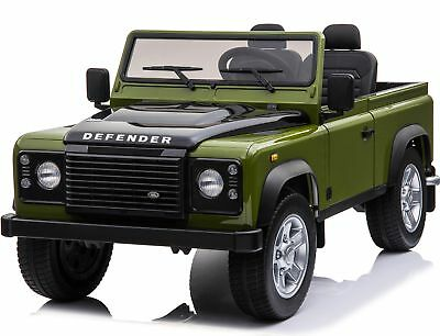 Licensed Land Rover Defender 24V* 4WD Ride On Pickup Style Jeep - Green • 499.95£