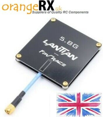 LANTIAN 5.8Ghz 15dBi Flat Panel Plated FPV Antenna RP-SMA SMA Drone RC Plane UK • 19.99£