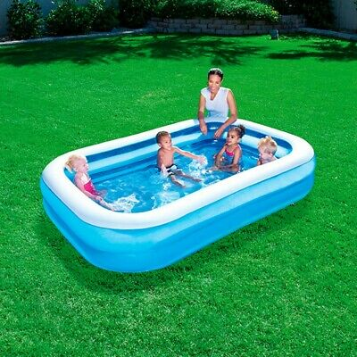 Bestway Rectangular Family Swimming Paddling Pool Outside Water Fun Kids 8.6ft • 27.95£
