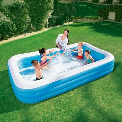 Bestway Large Rectangular Family Swimming Paddling Pool Outside Water Kids 10ft • 39.95£