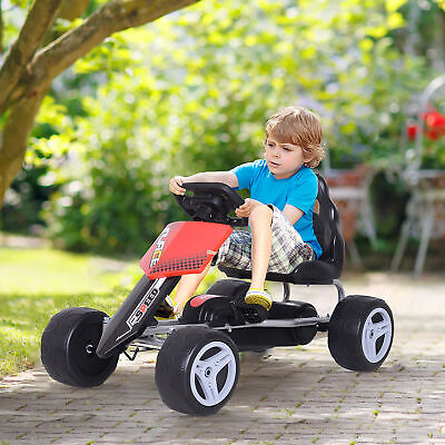 Pedal Go Kart Kids Ride-on Car Safety Chain Outdoor Racer Bike Toy Gift • 43.99£