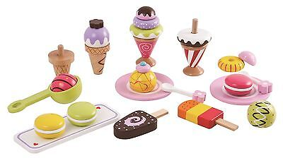 Lelin Wooden 25 Pieces Ice Cream Selection Pretend Play Set • 16.99£