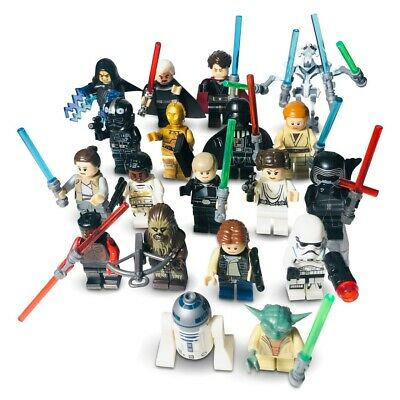 Custom Lego Minifigures Bundle Uk Star Wars Mini Figures Jedi Mini Figs - Series • 20.65£