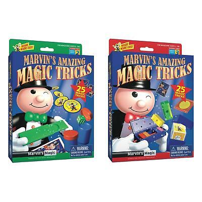 Marvin's Amazing 25 Magic Tricks Childrens Kids Beginner Magicians Prop Set • 10.99£