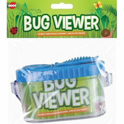 Childrens Bug Insect Keeper & Viewer Magnifier & Tweezers Educational Outdoors • 3.69£