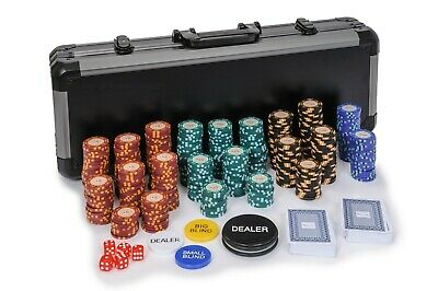 Casino Royale Poker Chips Set - 14g 500 Piece Numbered Poker Set & Accessories • 99.99£