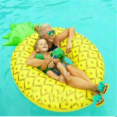 Fu Giant Inflatable Pineapple Shaped Pool Float Raft Ring Swimming Water Fun  • 6.99£