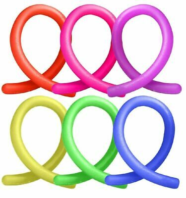6x Stretchy Noodle String Neon Kids Childrens Fidget Stress Relief Sensory Toy • 2.89£