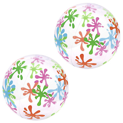 PACK OF 2 Large Splash & Play 20  Beach Ball / Deisgn Varies • 3.99£