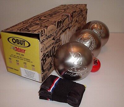 Asterix Collectors OBUT Stainless Steel Leisure Boule Set 60th Anniversary Issue • 65£
