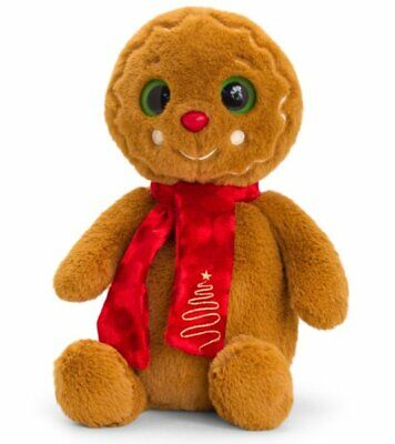 Keel Toys CHRISTMAS GINGERBREAD MAN With Scarf 20cm SOFT TOY  • 8.75£