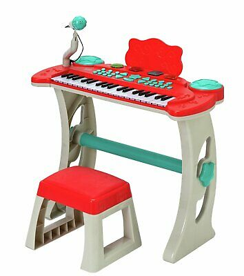 Chad Valley Keyboard Stand And Stool - Red • 30£