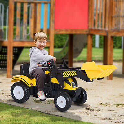 Pedal Go Kart Ride On Excavator W/ Front Loader Digger,Four Wheels Child Toy • 59.99£