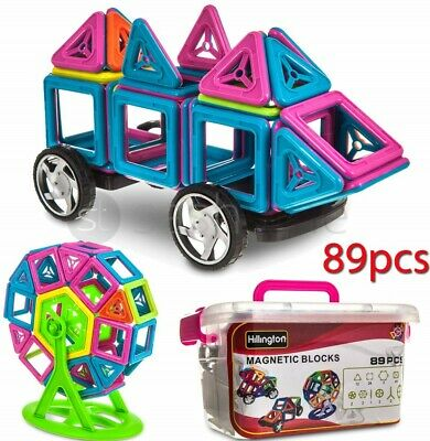 89Pcs Blocks Magnetic Educational Toys Tiles Building Kids Xmas Gifts DIY UK NEW • 14.95£