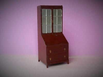 CHARBENS PRE-WAR VINTAGE 1930s VERY RARE LEAD DOLLS HOUSE BUREAU BOOKCASE • 59.49£
