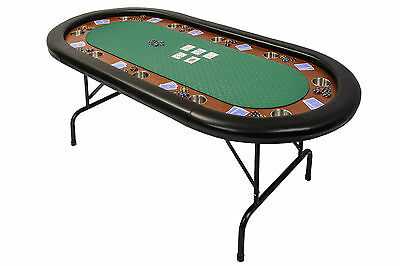 Riverboat P10 Pro Poker Table With Folding Legs In Green Speed Cloth 213cm • 279£