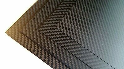 Small 3K Carbon Fibre Composite Sheet 1.5mm X 200mm × 120mm Twill Weave Black • 9.75£