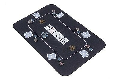The Broadway Poker Mat In Black By Riverboat Gaming - 100x65cm (Poker Table Top) • 44.99£