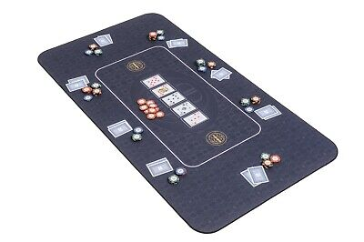 The Broadway Poker Mat In Black By Riverboat Gaming - 140x75cm (Poker Table Top) • 54.99£