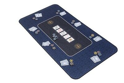 The Broadway Poker Mat In Blue By Riverboat Gaming - 140x75cm (Poker Table Top) • 54.99£