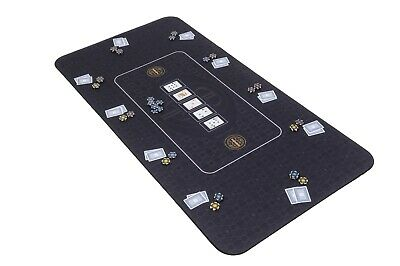 The Broadway Poker Mat In Black By Riverboat Gaming - 180x90cm (Poker Table Top) • 64.99£