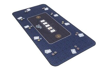 The Broadway Poker Mat In Blue By Riverboat Gaming - 180x90cm (Poker Table Top) • 64.99£