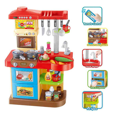 Kitchen Role Play Toy Oven Hob Sink & Water Lights & Sound & Remote Control 4690 • 24.95£