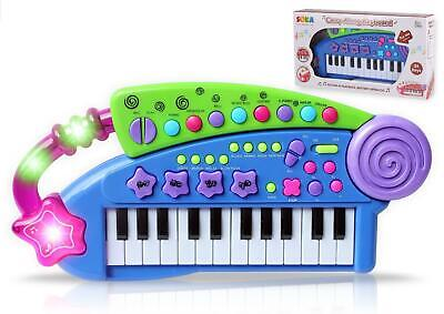 SOKA® Piano Carry Along Keyboard Children Kids Musical Instrument Toys - Blue • 12.99£