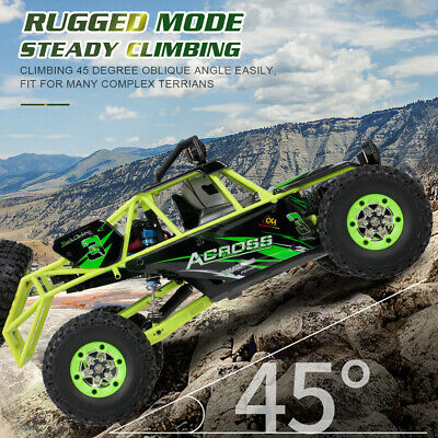 50km/h Wltoys 1/12 2.4G 4WD Electric Brushed Crawler RTR RC Car Truck High Speed • 63.99£
