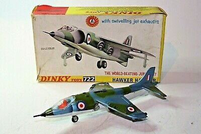 Dinky 722 Hawker Harrier, Excellent Condition In Original Early Issue Box • 79£