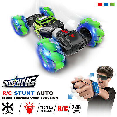 1:16 Remote Control Off-Road Gesture Sensing 4WD Double Sided Flip RC Stunt Car • 26.10£