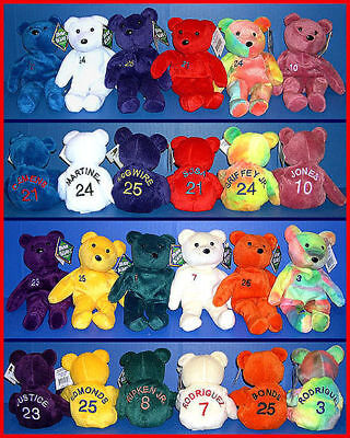 12 SALVINOS BAMM BEANOS 1998 Baseball TEDDY BEARS Bean Bag MWMT Complete Set • 19.11£
