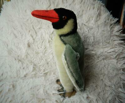STEIFF VINTAGE 1968 PEGGY PENGUIN WITH SWIVEL HEAD SCRIPT BUTTON & ID No.2500/22 • 69.99£