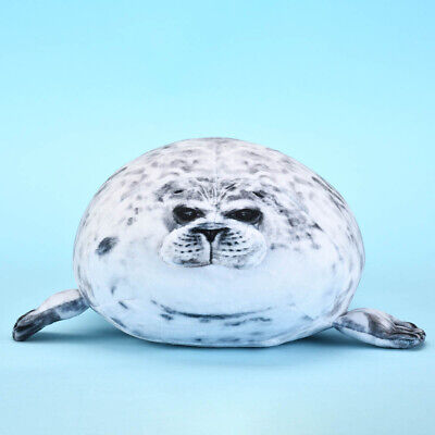 Osaka Aquarium Chubby Seal Plush Pillow Cute Kaiyukan Fat Stuffed Animal Gift • 10.49£