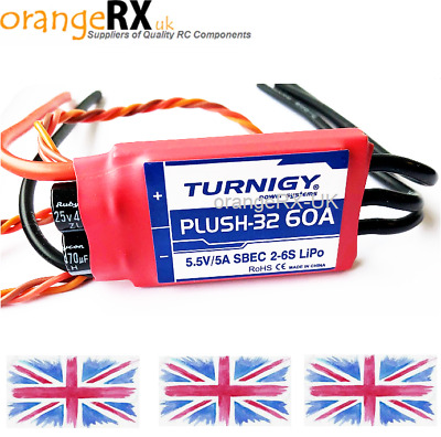 Turnigy Plush 32 60A 60 AMP Brushless ESC Speed Controller With 5A BEC Plush-32 • 49.99£