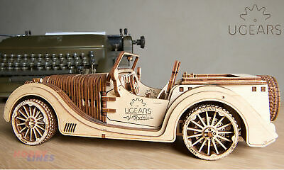 UGears ROADSTER VM-01 UG70052 Wooden Mechanical Construction 3D Car Puzzle Kit • 37.79£