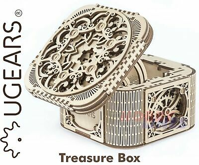 UGears TREASURE BOX UG70031 Wooden Mechanical Construction Puzzle KIT • 34.19£