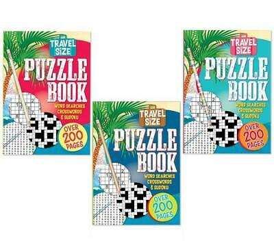 A5 Adult Puzzle Crossword Sudoku Wordsearch Travel Size Book 200 Pages • 2.09£