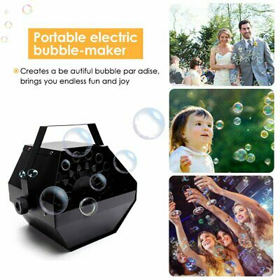 Electric Bubble Blower Machine Maker Disco Club Kids Game Party Wedding Have Fun • 21.92£