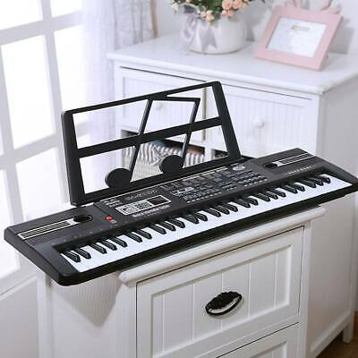 Musical Keyboard Piano 61 Keys Electronic Electric Digital Beginner Kids Set • 19.99£