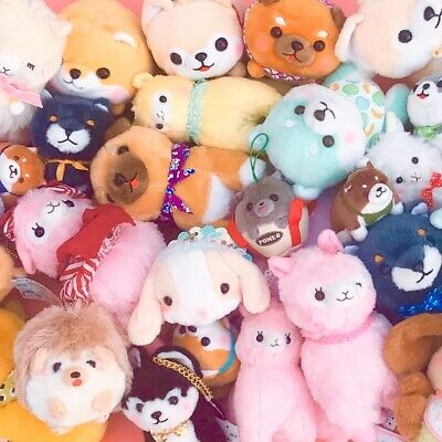 New Surprise Kawaii Plush Blind Bag : 5x Different Cute Japanese Animal Plushies • 24.99£