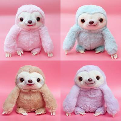 Cute 24cm Tall Kawaii Sloth Plushies Soft Pastel Plush Namakemono Gift Fairy Kei • 7.99£