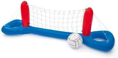 Bestway 2.4m 8ft Wide Inflatable Pool Volleyball Net Set Game With Ball • 12.49£
