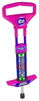 Ozbozz Go Light Up Pogo Stick Spring Powered Outdoor Game Toy Gift For Kids Pink • 22.49£