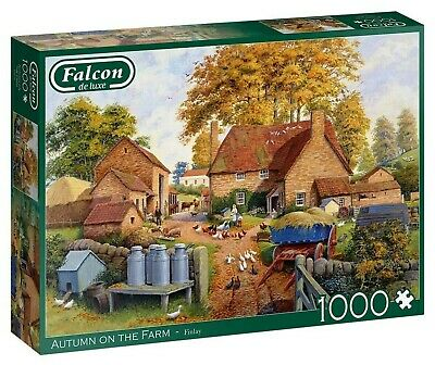 Falcon 1000 Piece Jigsaw Puzzle - Autumn On The Farm By Finlay - New & Sealed • 15.99£