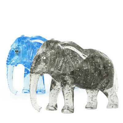 3D Crystal Elephant DIY Puzzles Kids Toy Birthday  Gift Educational Toy • 8.99£